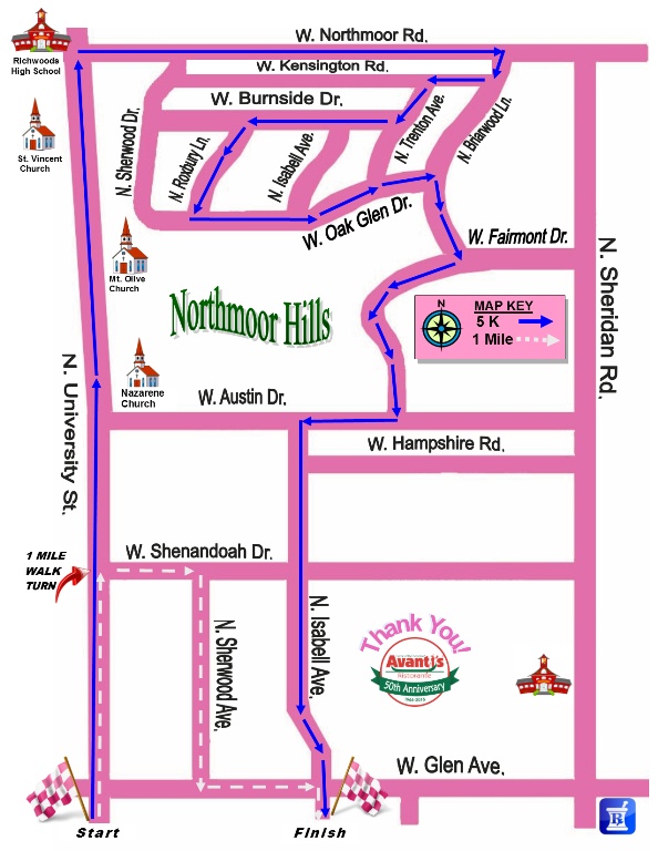 Peoria Course Map